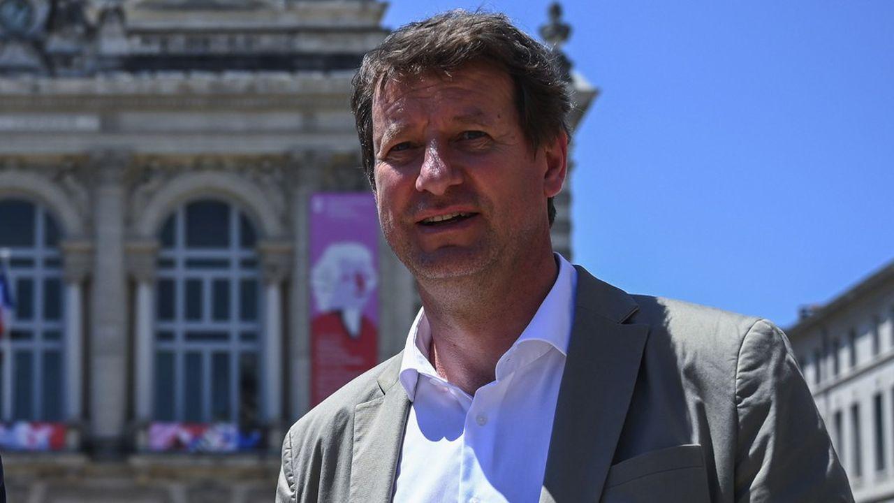 L'eurodéputé EELV Yannick Jadot, en déplacement à Montpellier avant le second tour des élections municipales.