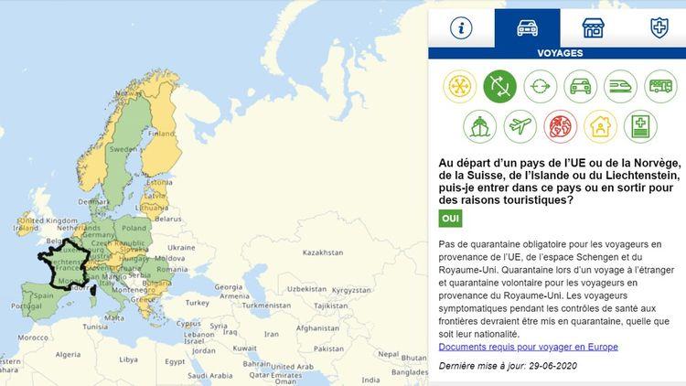 La carte interactive de la Commission