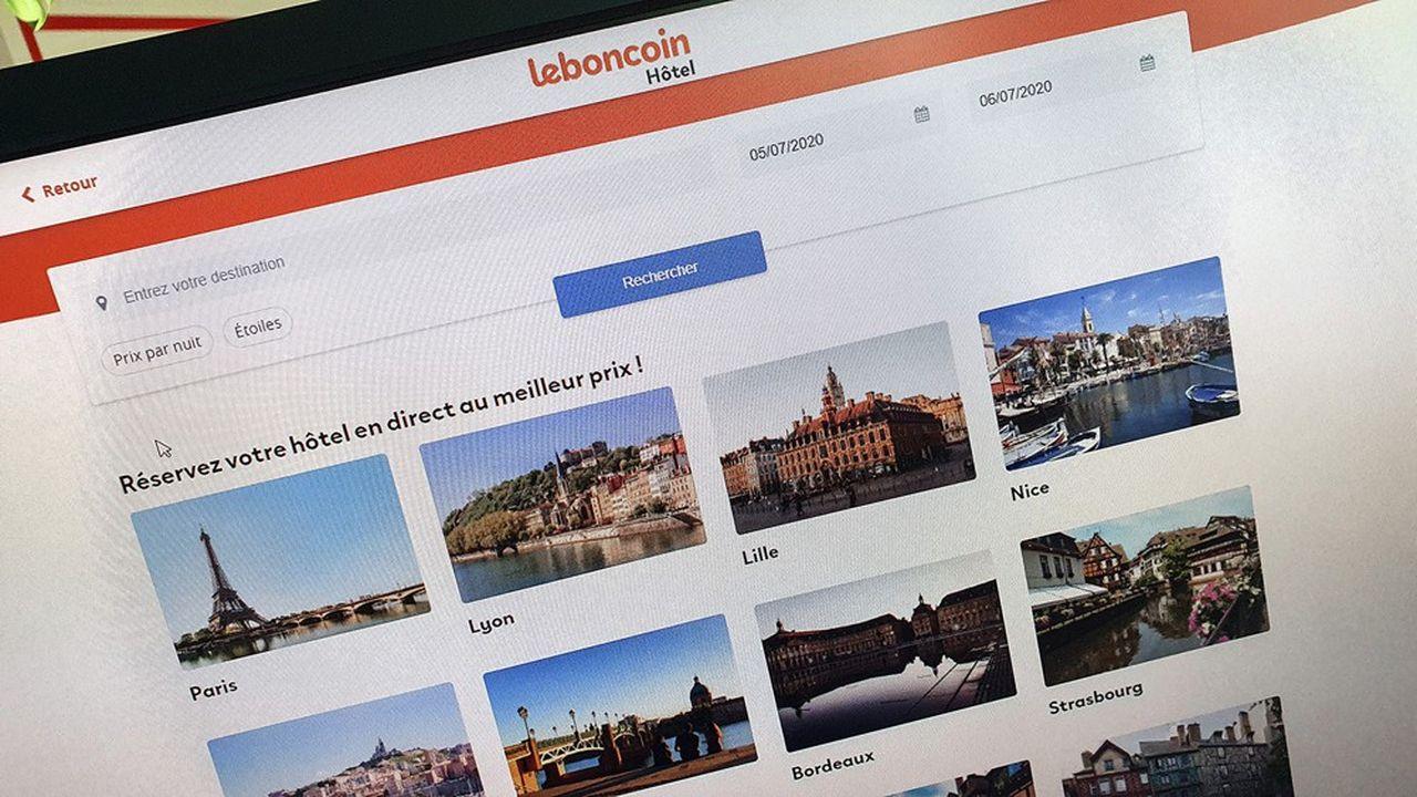 Leboncoin, qui se développe depuis peu dans l'hôtellerie, compte déjà 4.500 hôtels «actifs» sur une base de 11.000 disponibles représentant environ 200.000 chambres.