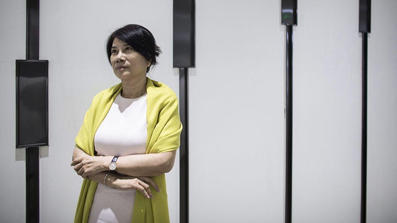Dong Mingzhu, présidente de Gree Electric, au siège de l'entreprise, à Zhuhai, en 2014. En une décennie à peine, cette travailleuse acharnée en a gravi tous les échelons.