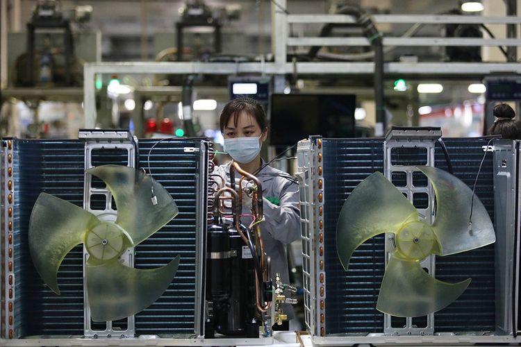 Sur une chaîne de production de Gree, à Wuhan, en mai dernier.