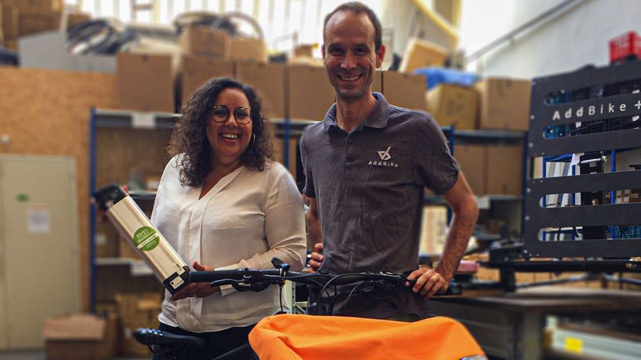 Anne-Sophie Caistiker, présidente de MAD et PDG de Doctibike, avec Renaud Colin, président d'AddBike.