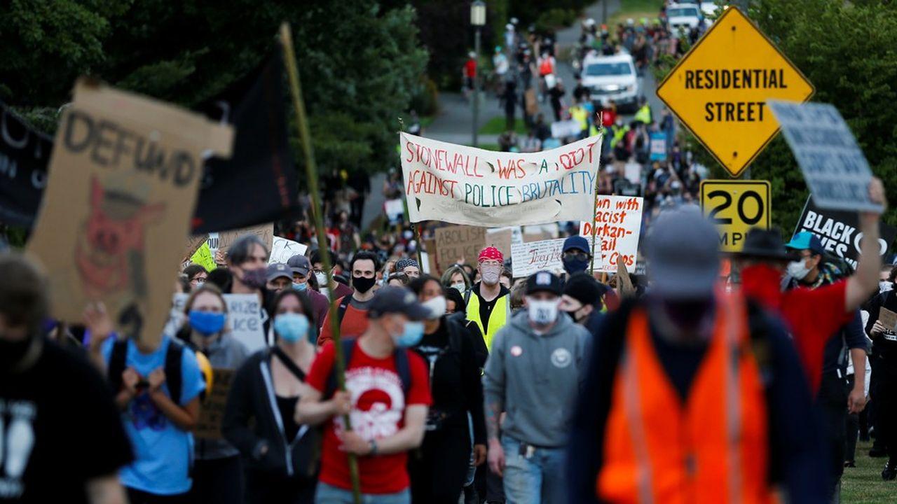 Manifestations aux Etats-Unis, 28 juin 2020.