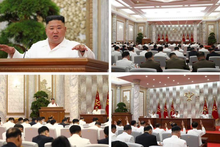 Les images de la réunion du Politburo diffusée par les médias nord-coréens