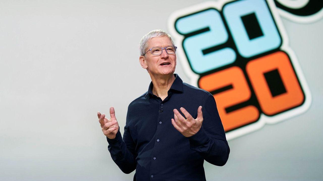 Tim Cook a présenté les nouveautés de la prochaine version du système d'exploitation mobile iOS le 22juin.