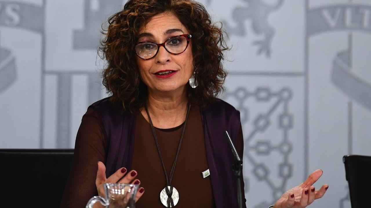 La ministre des Finances, Maria Jesus Montero, a donné le feu vert à constitution d'un fonds de 10milliards d'euros pour renflouer temporairement les entreprises.
