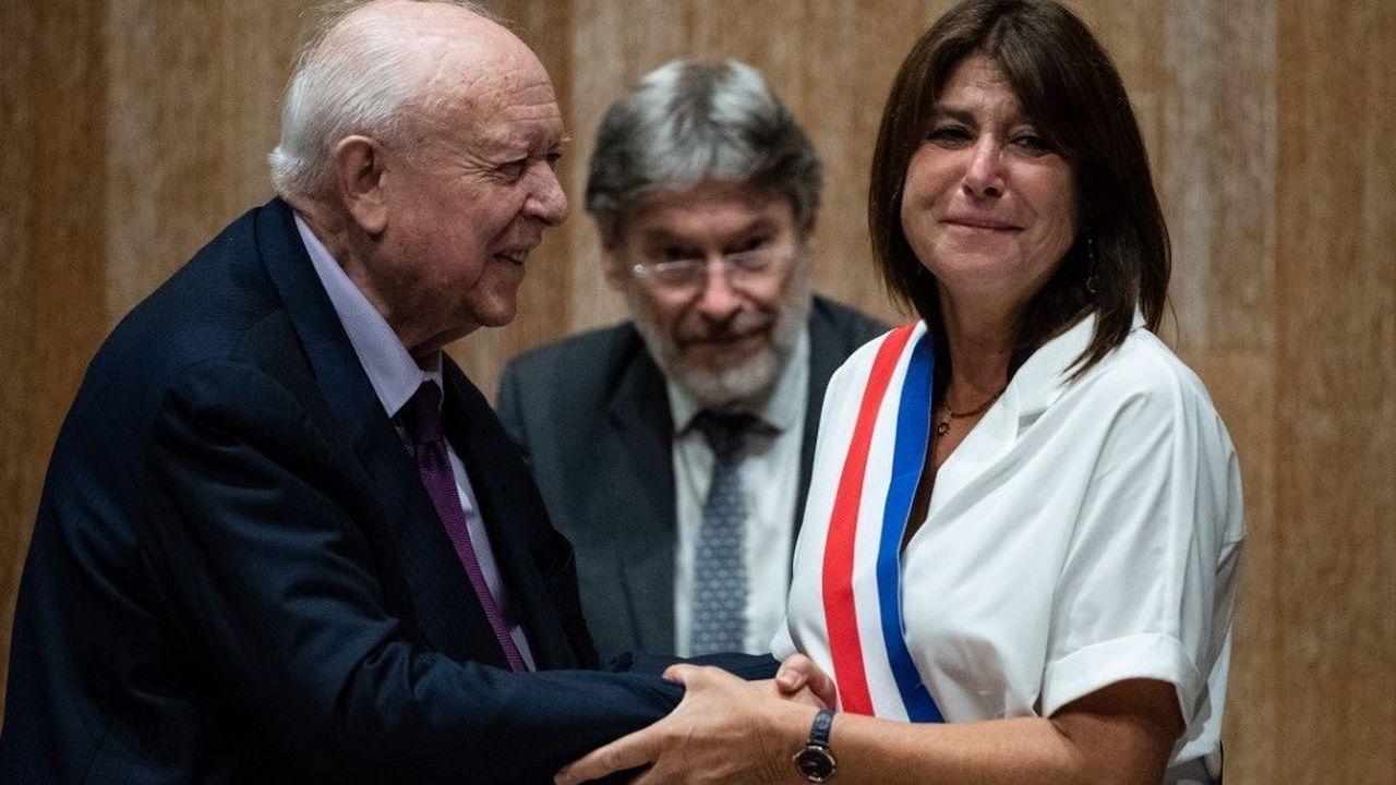 Michèle Rubirola a reçu l'écharpe tricolore des mains de Jean-Claude Gaudin.