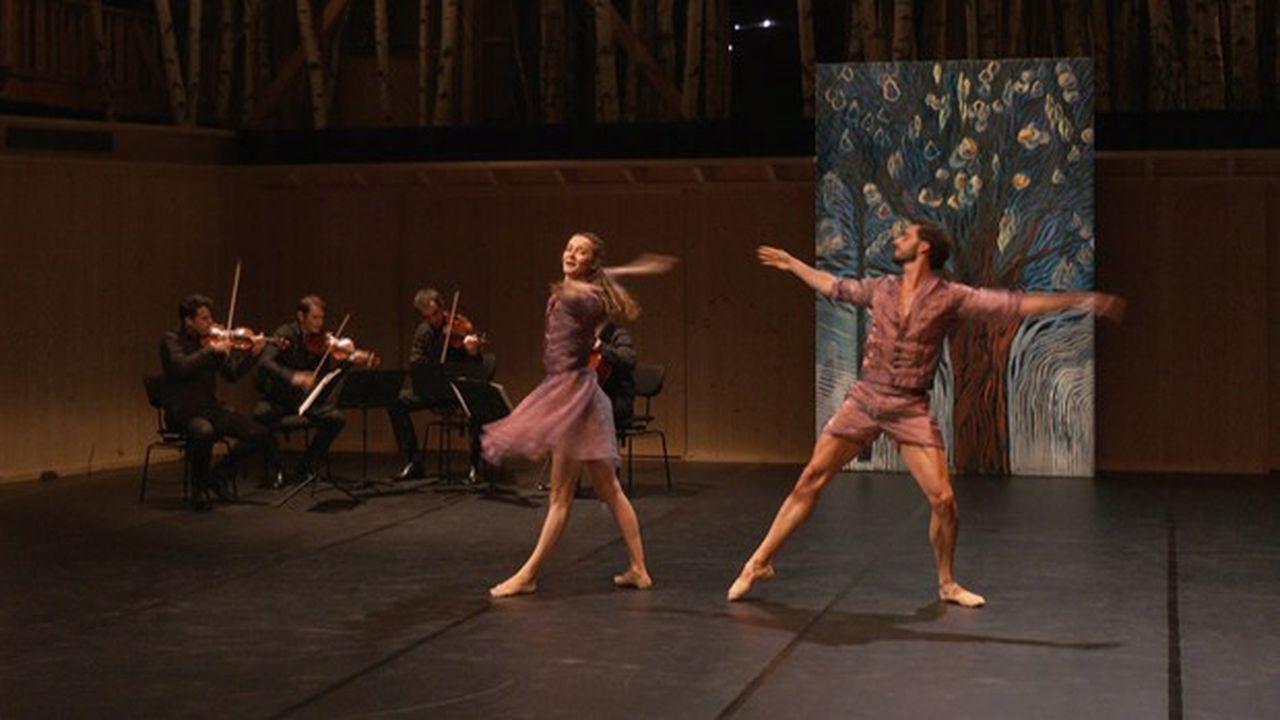 Le «Quatuor à cordes en fa majeur» de Ravel, interprété par le Quatuor Modigliani et les danseurs Agnès Letestu et Florent Melac.