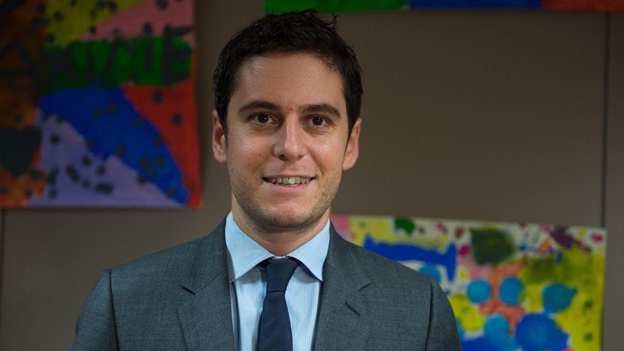Gabriel Attal avait éténommé secrétaire d'Etat auprès du ministre de l'Education nationale et de la Jeunesse en octobre2018.