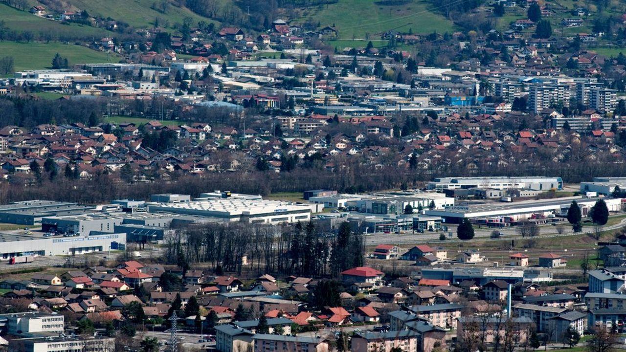 La zone d'activités industrielles et commerciales de la vallée de l'Arve, où est installé Frank & Pignard.
