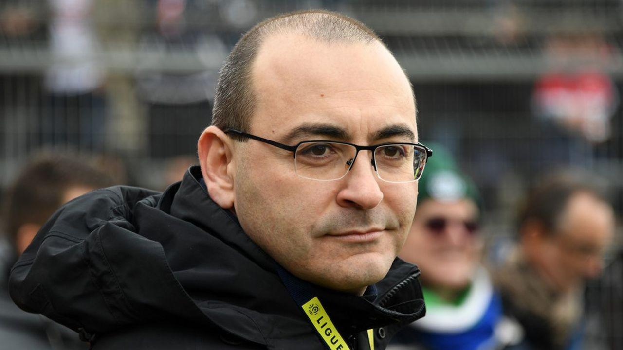 Le président de Nîmes Olympique, Rani Assaf, en février2019.