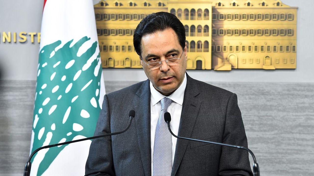 Le Premier ministre libanais Hassan Diab, à la tête d'un pays à la dérive.