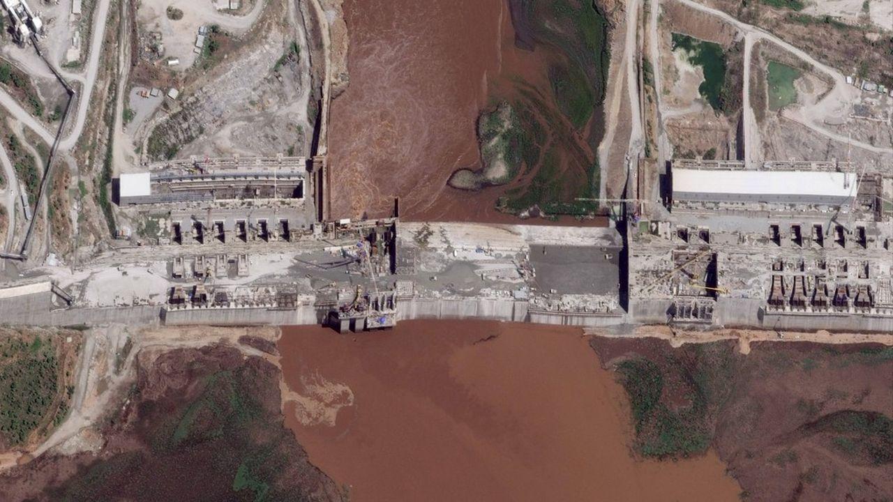 Le barrage de la Renaissance sur le Nil, 28mai 2020.
