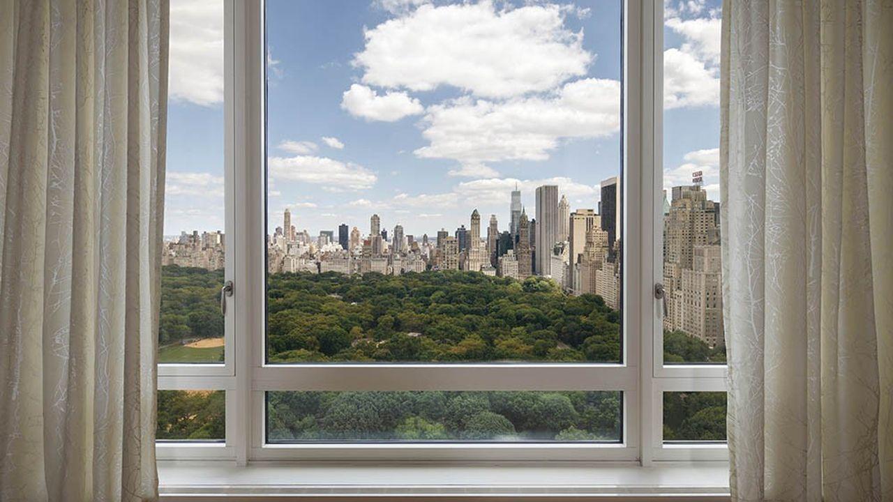 Vue d'un appartement au 15, Central Park West.