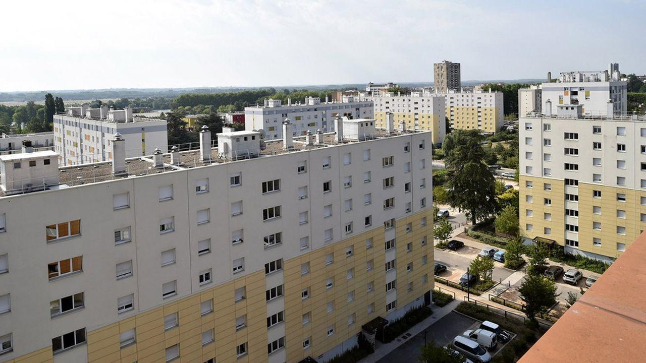 Des logements sociaux à Macôn (Saône-et-Loire), dans le quartier Marbré.