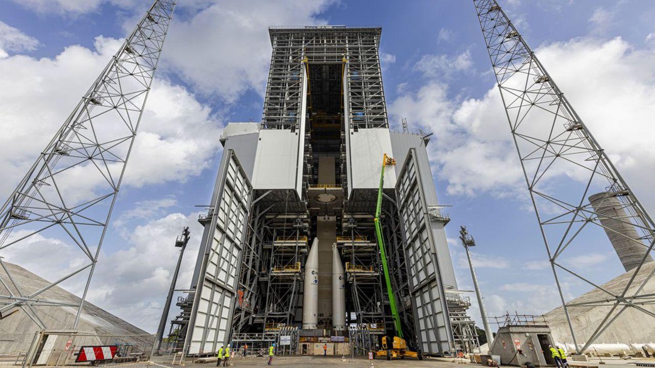 Les travaux sur le pas de tir d'Ariane 6 sont ralentis par les gestes barrières et les quarantaines mises en place pour lutter contre le Covid.