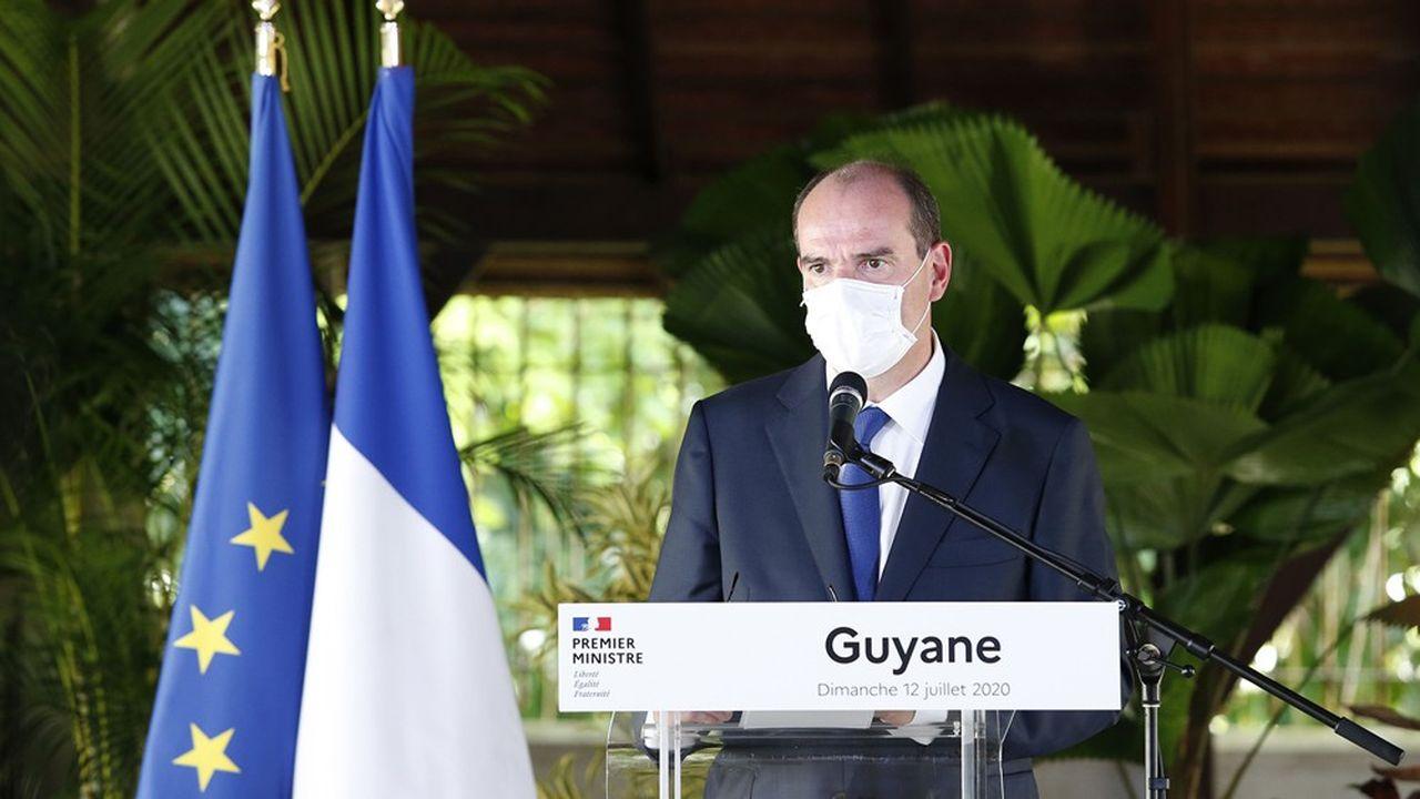 Lors de sa visite à Cayenne, Jean Castex a également indiqué que «la question de développer» le port du masque était «à l'étude».