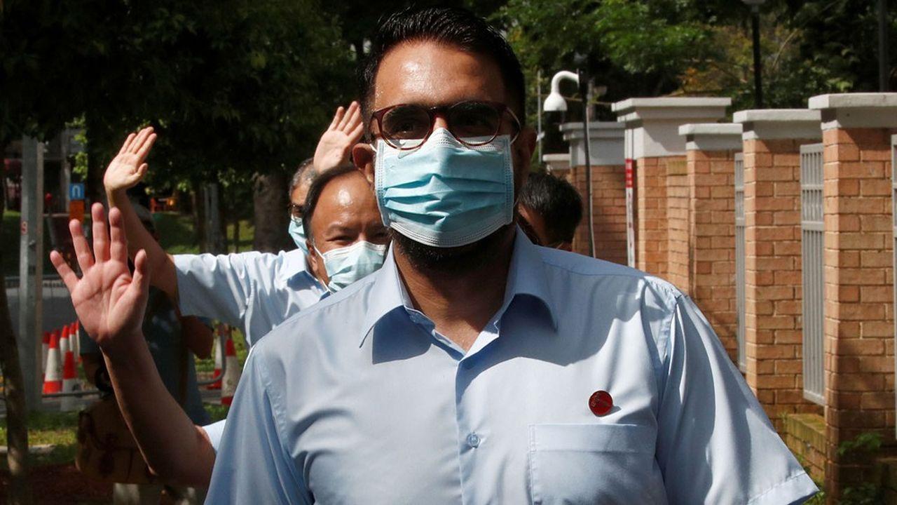 Pritam Singh, le leader du parti des Travailleurs, opposition, ne cachait pas sa satisfaction à la lecture des résultats, son parti gagne dix sièges.