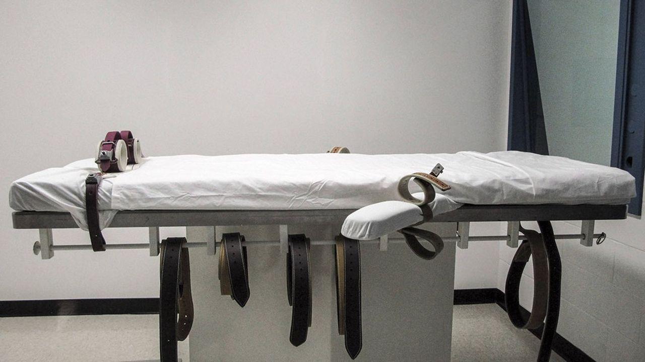 Une chambre d'injection létale prise en juillet2010 au pénitencier d'Etat de Lincoln, dans le Nebraska.