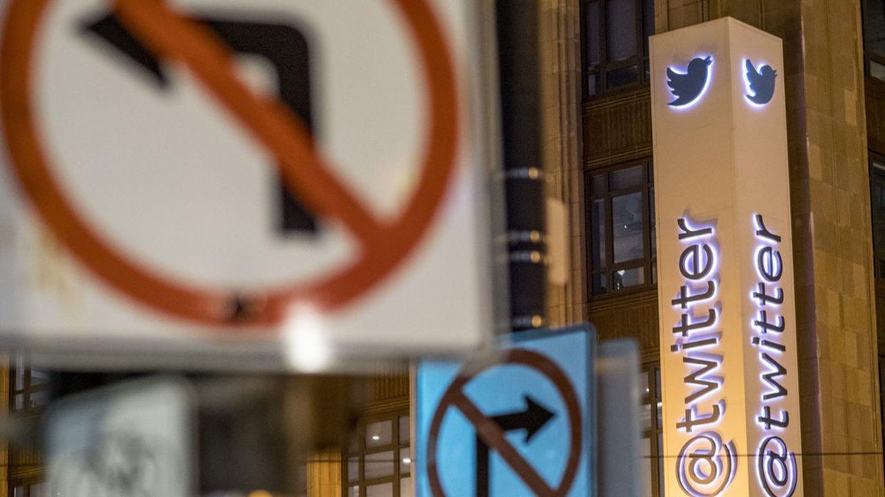 Le siège de Twitter à San Francisco. En France, le réseau est accusé depuis plusieurs années de ne pas lutter suffisamment contre la haine en ligne.