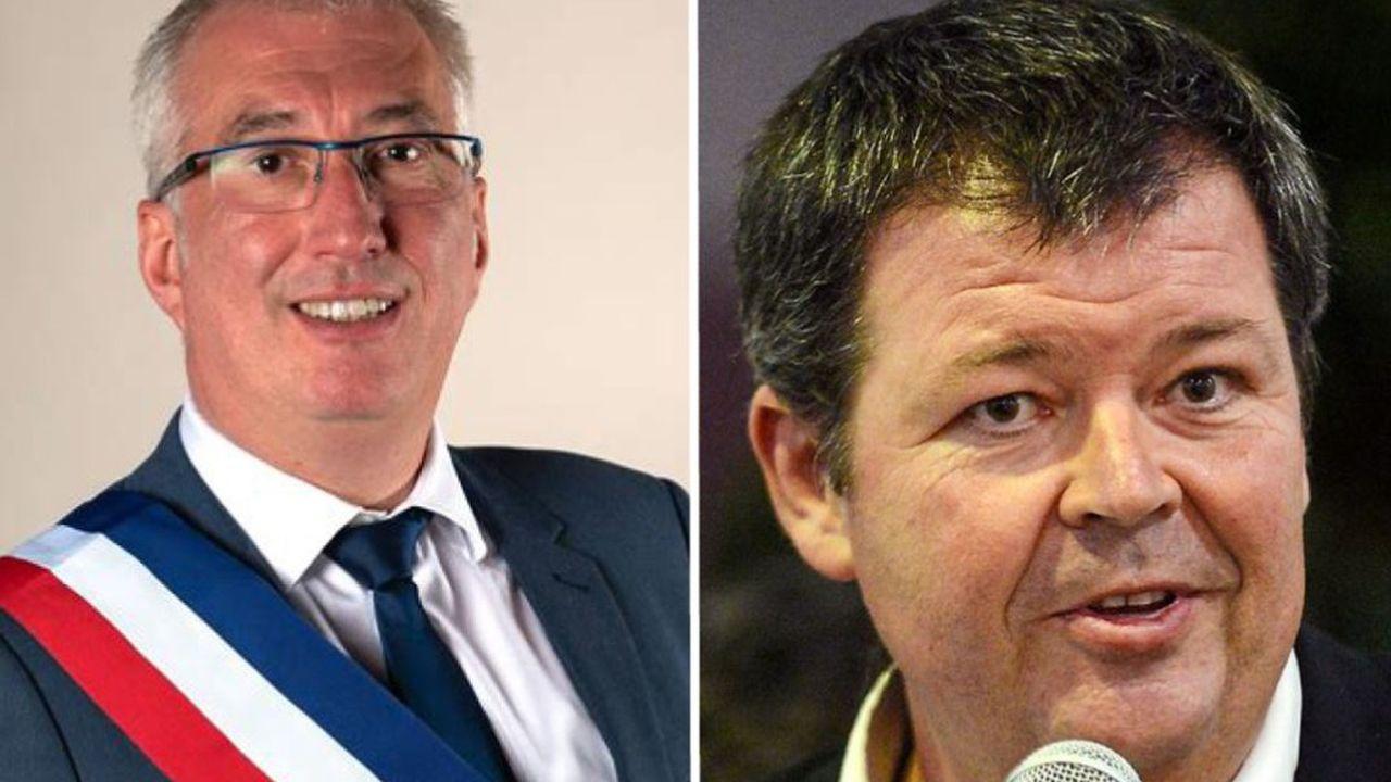A gauche, Christophe Rivenq. A droite, Jean-Christian Rey.