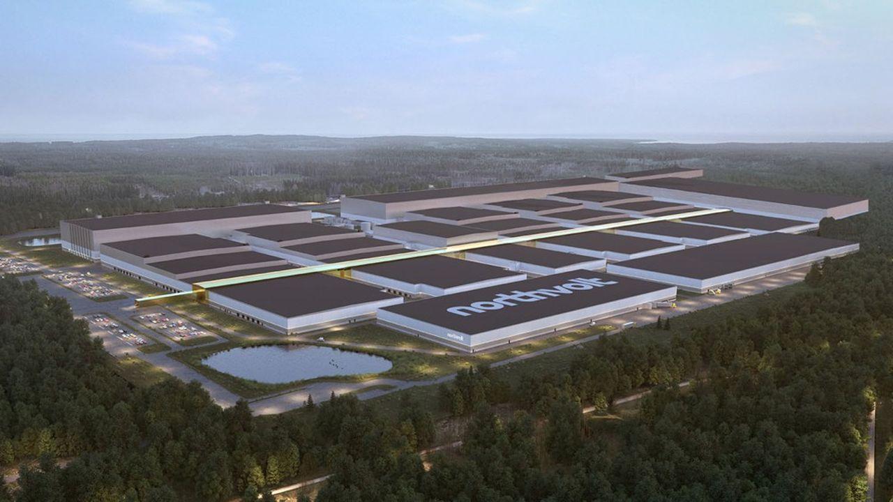 La «gigafactory» suédoise de Northvolt doit afficher une capacité de 16 gigawattheures lorsqu'elle sera achevée en 2021.