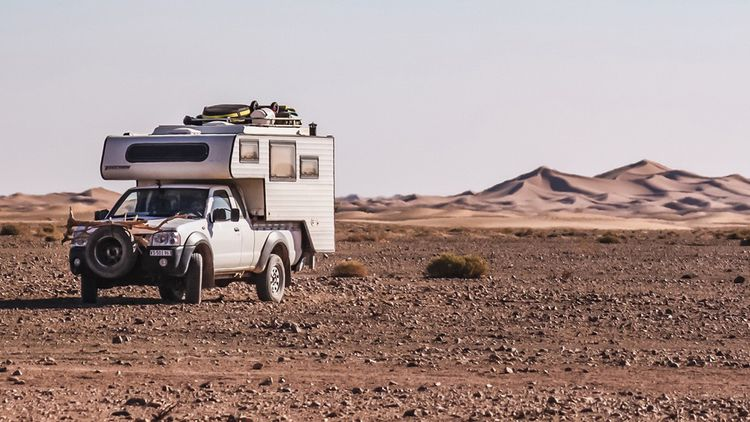 L'aventurier Raf Cramatte au Maroc