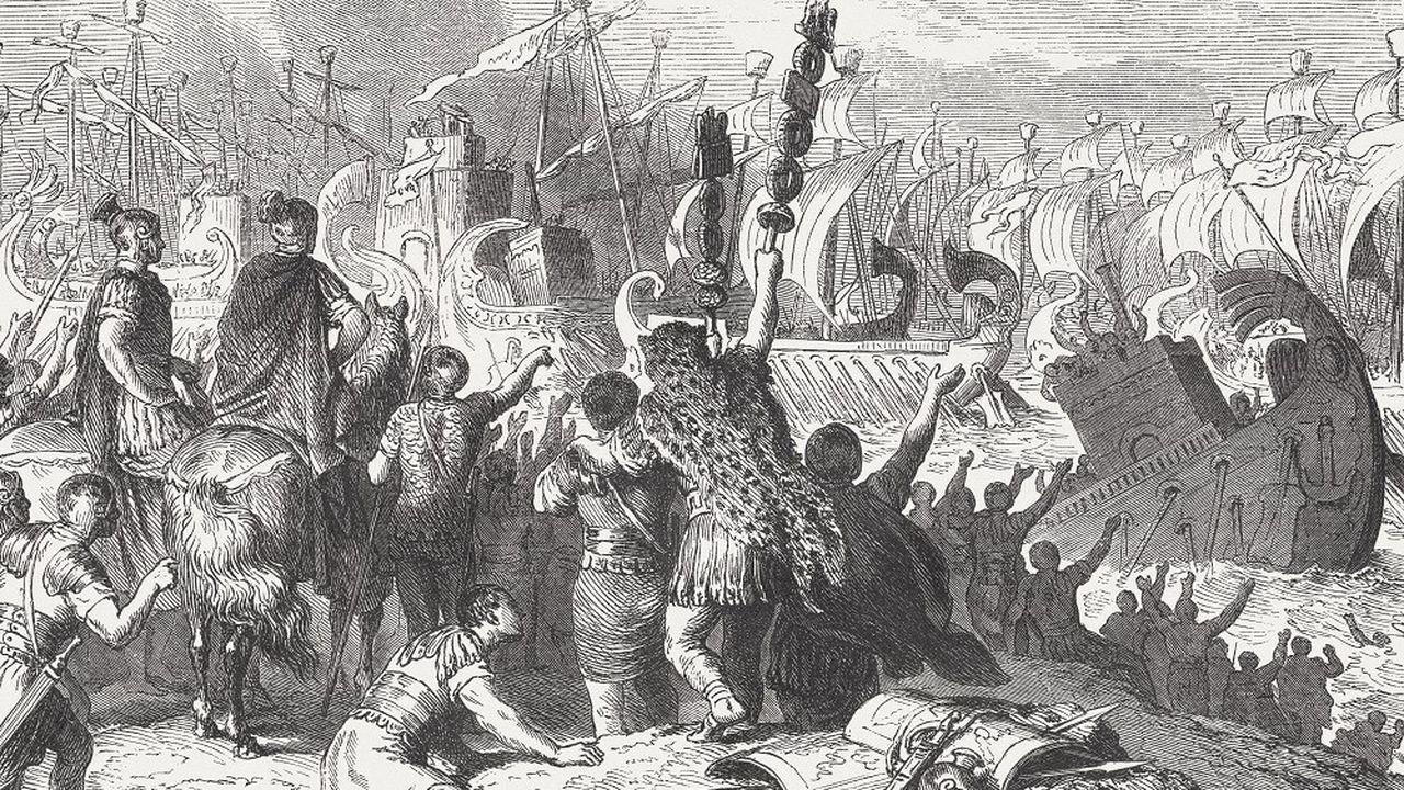 L'issue de la bataille d'Actium, grande bataille navale qui a opposé Marc-Antoine à Octave en 31 av. J-C. a pu être déterminée par le phénomène des eaux mortes.