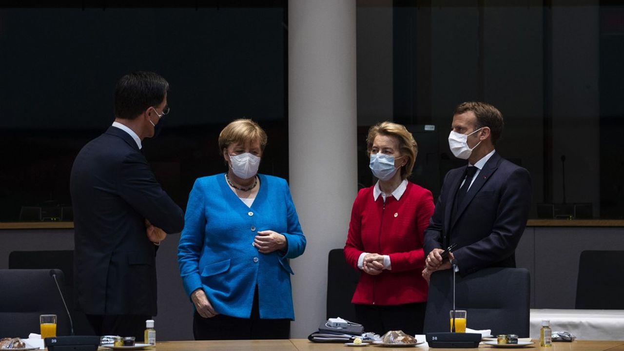 Angel Merkel et Emmanuel Macron ont travaillé de concert pour convaincre le premier ministre néerlandais Mark Rutte