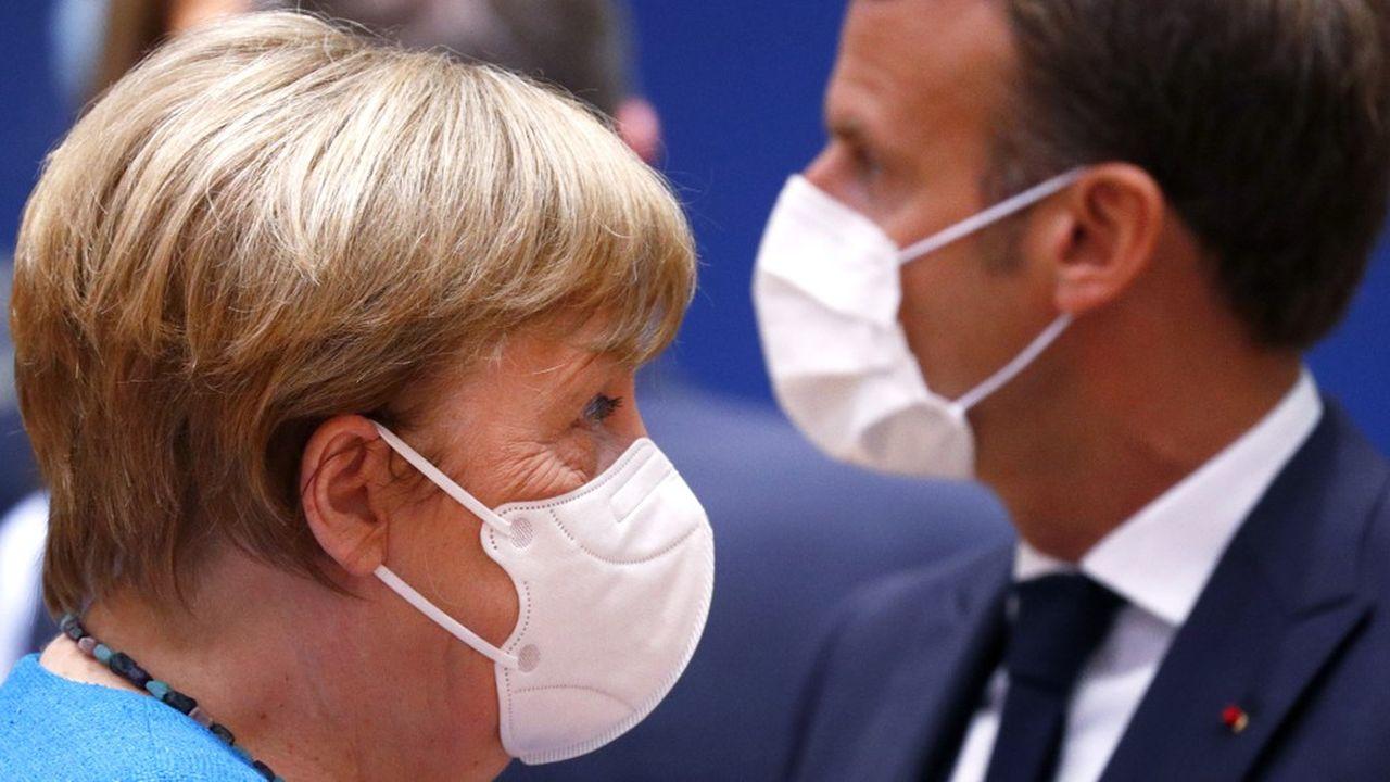 Unis, la chancelière allemande, Angela Merkel, et le président Français, Emmanuel Macron font face à une vive résistance des pays dits «frugaux».