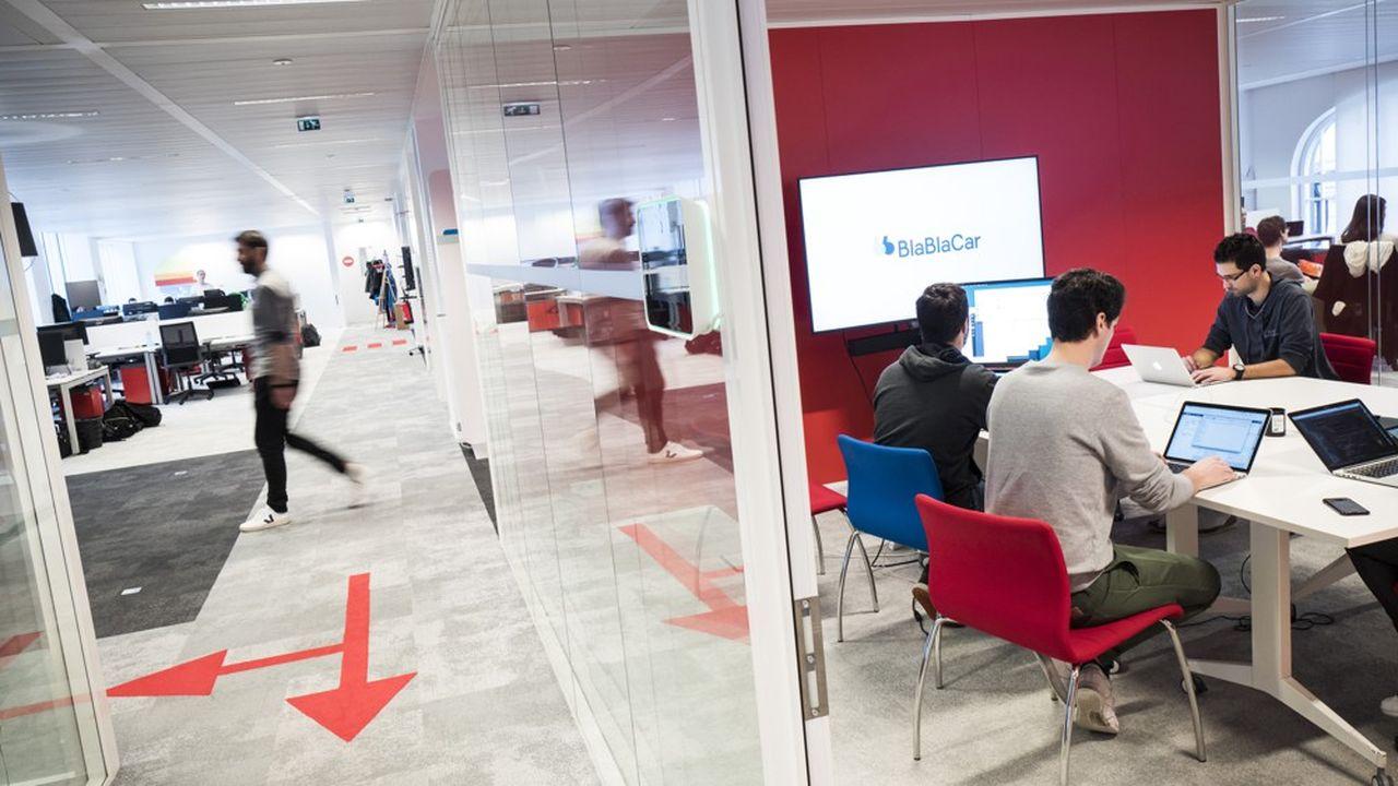 Les entreprises de la «French Tech se sont installées ces dernières années dans les quartiers de Paris prisés des jeunes talents. Ici le siège de Blablacar, dans le 11e.