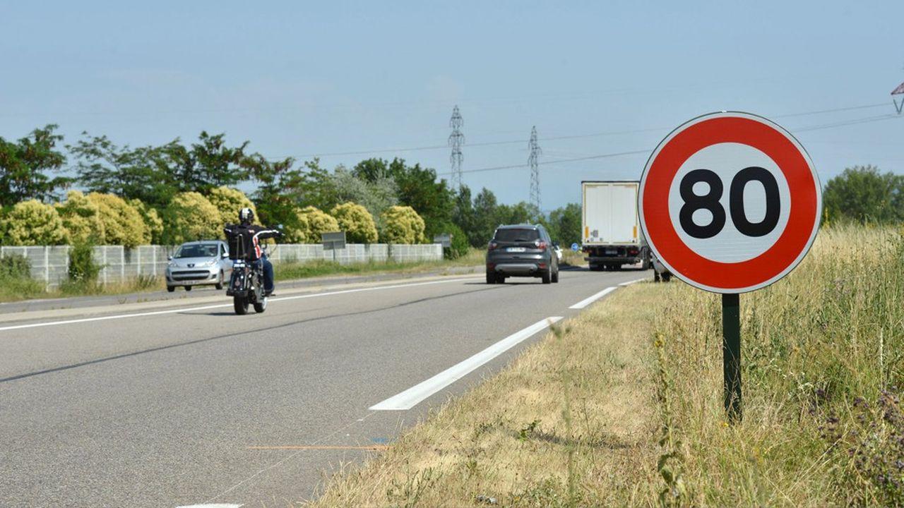 Depuis juillet2018, les routes du réseau secondaire français sont limitées à 80km/h.