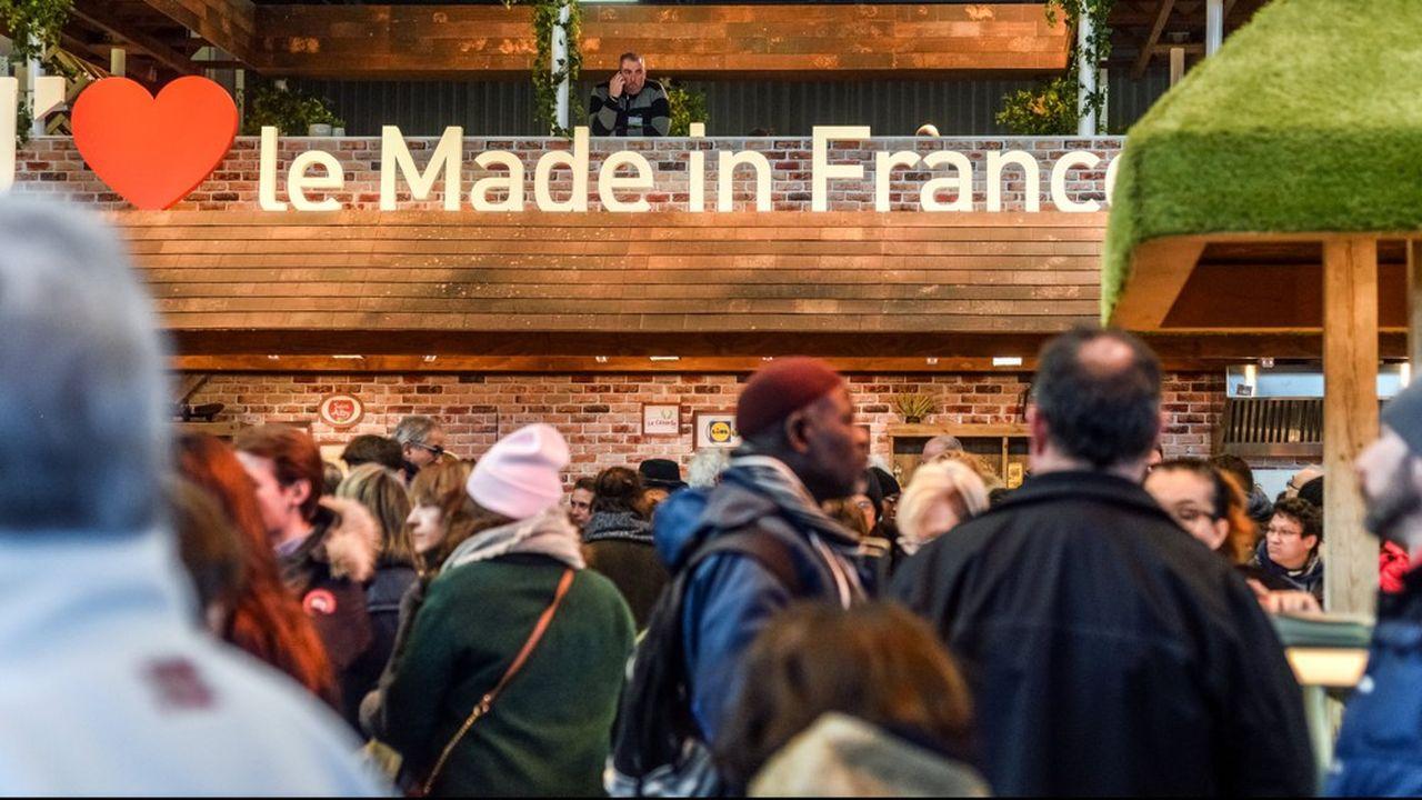 Pavillon des bovins. «J'aime le made in France».