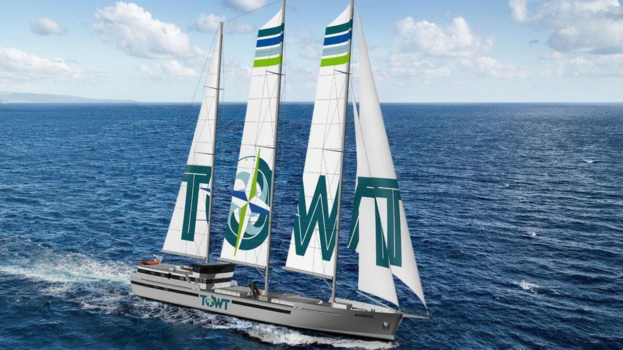 Le futur voilier-cargo de Towt.