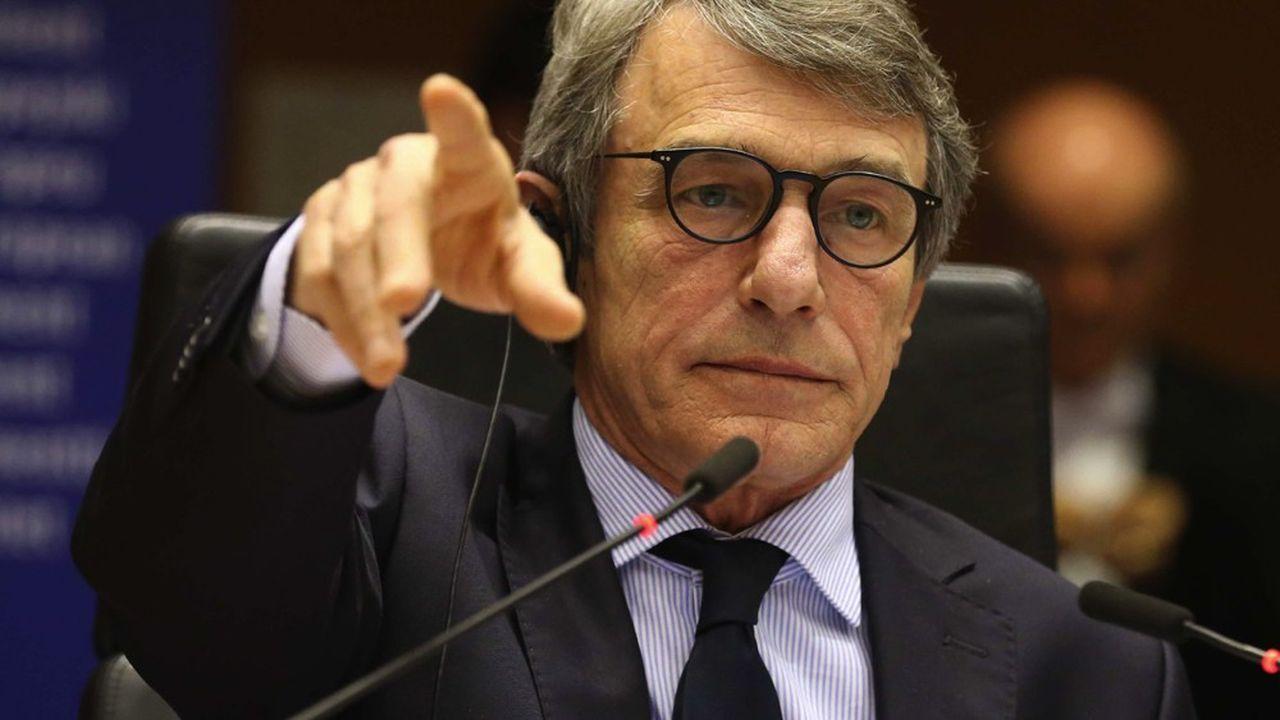 David Sassoli, le président du Parlement européen, va présider une session extraordinaire jeudi dont la durée a été réduite de 4 à 1 jour à cause de l'épidémie de Covid-19.