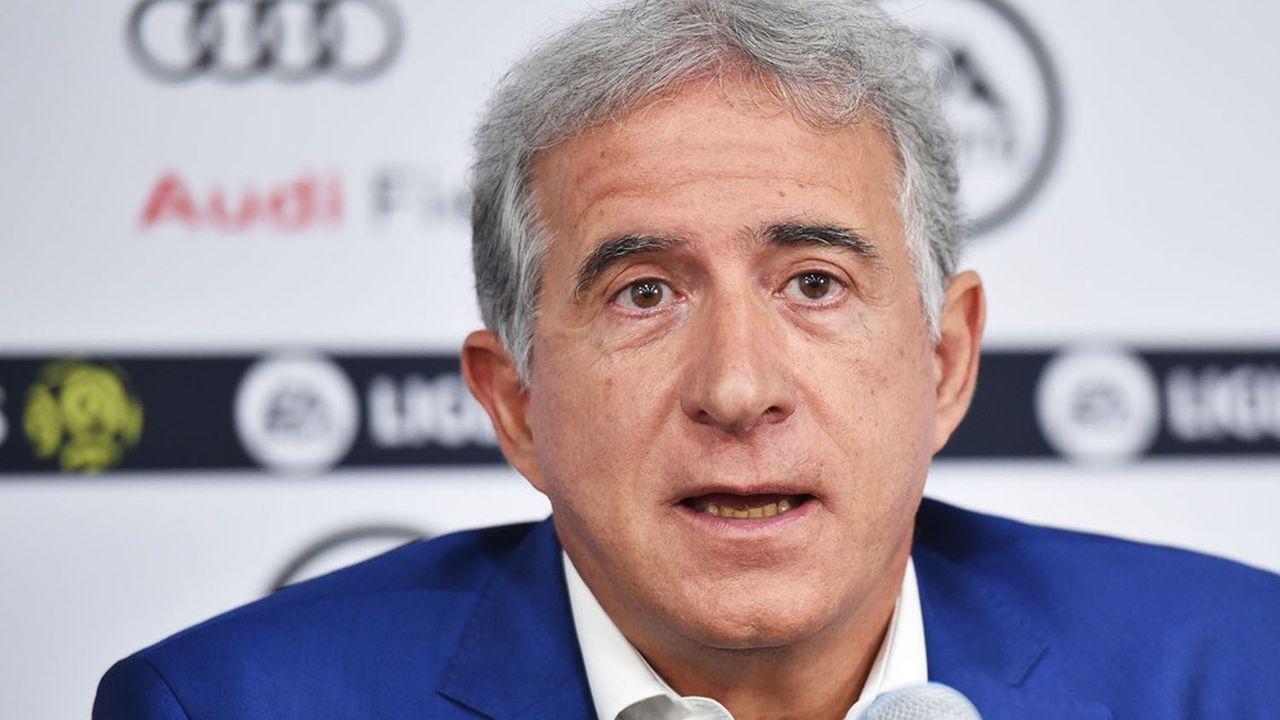 Bernard Caïazzo, le président du conseil de surveillance de l'AS Saint-Etienne, et président du syndicat de clubs de L1 Première Ligue
