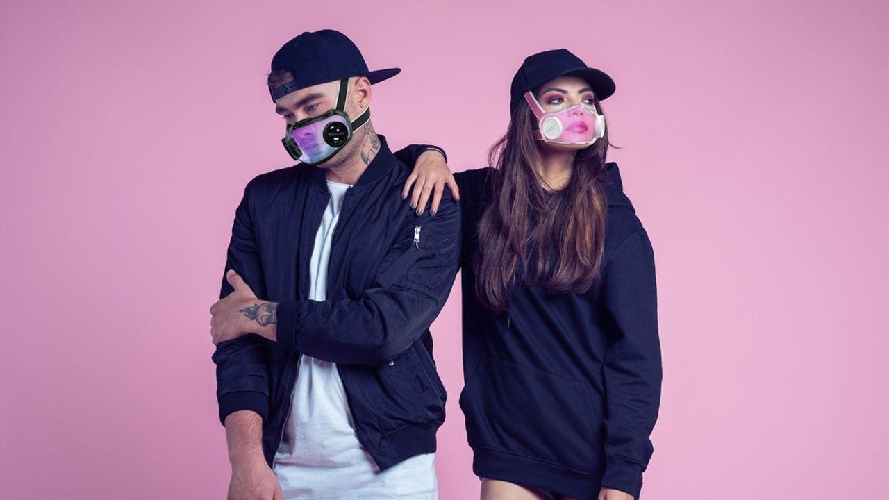 La start-up Civility a fait le choix d'un masque transparent pour conserver l'expression des émotions.