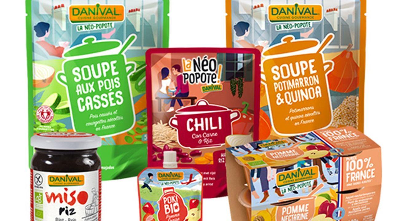 Danival propose des plats cuisinés bio sans arômes artificiels, ni colorants ou épaississants, des préparations de légumes et des compotes.