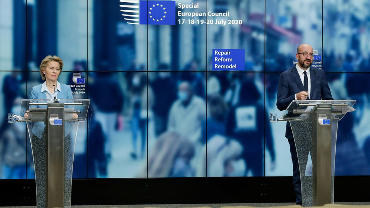 «La Commission va, pour la première fois, emprunter au nom de l'Union européenne et répartir les fonds entre des prêts et des subventions directes aux Etats les plus touchés par la crise.»