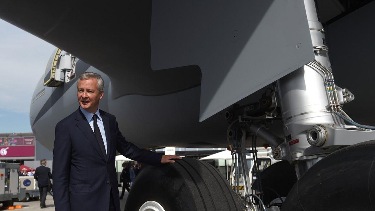 Le ministre des Finances français Bruno Le Maire «appelle l'administration américaine à lever sans délais les tarifs douaniers imposés depuis octobre dernier sur des produits européens comme les vins français»