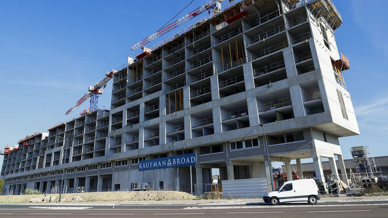 Un chantier de construction de Kaufman & Broad à Toulouse.