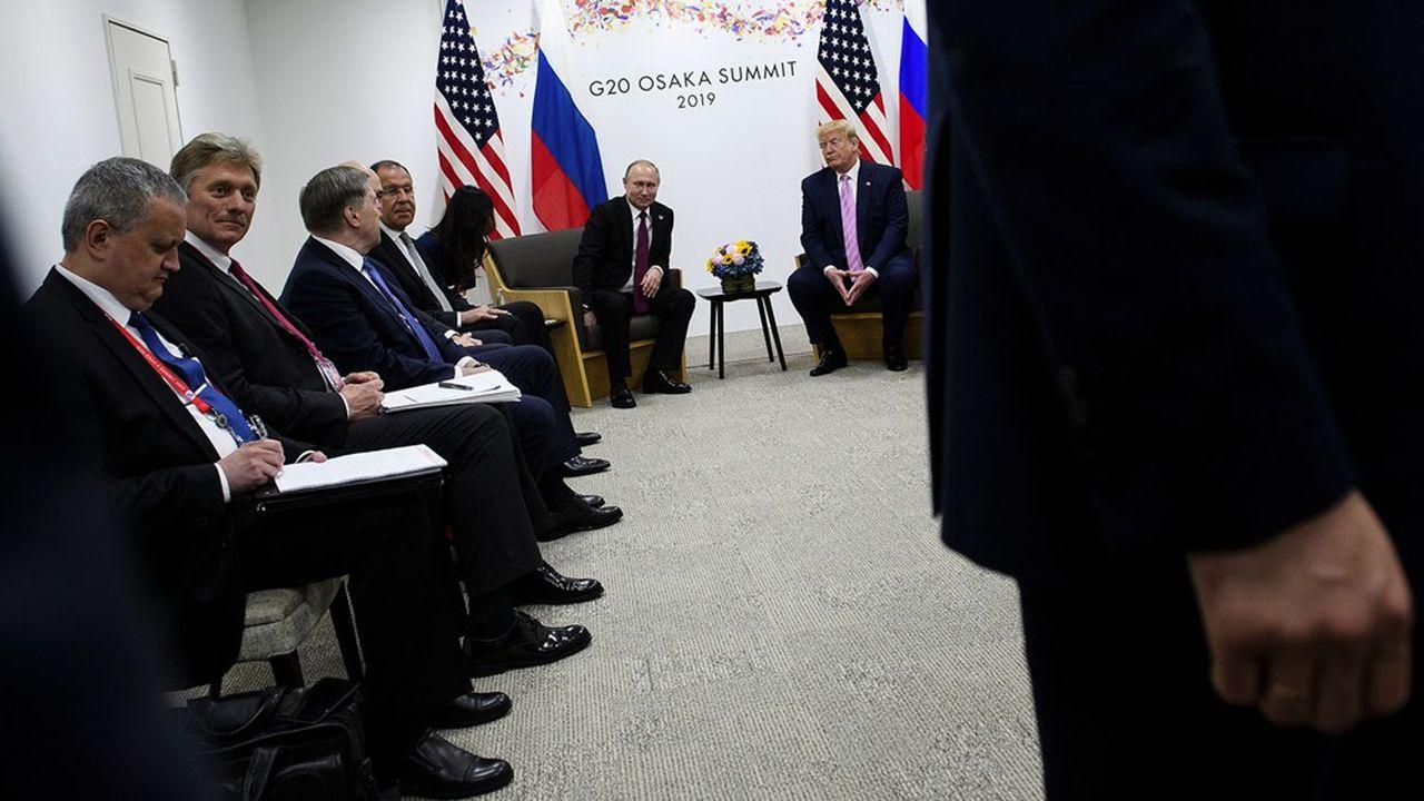 Le président américain, Donald Trump, et son homologue russe, Vladimir Poutine, ne se sont plus rencontrés depuis un an.