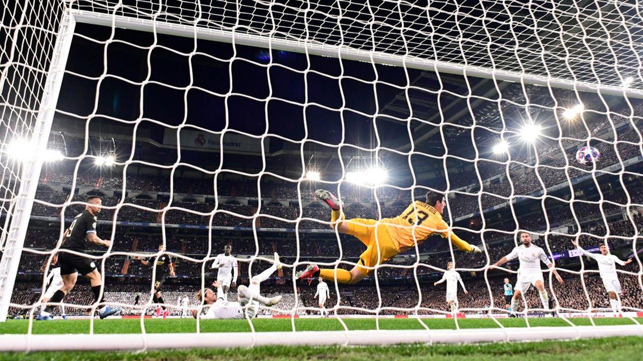 Manchester City face au Real Madrid en février2020.