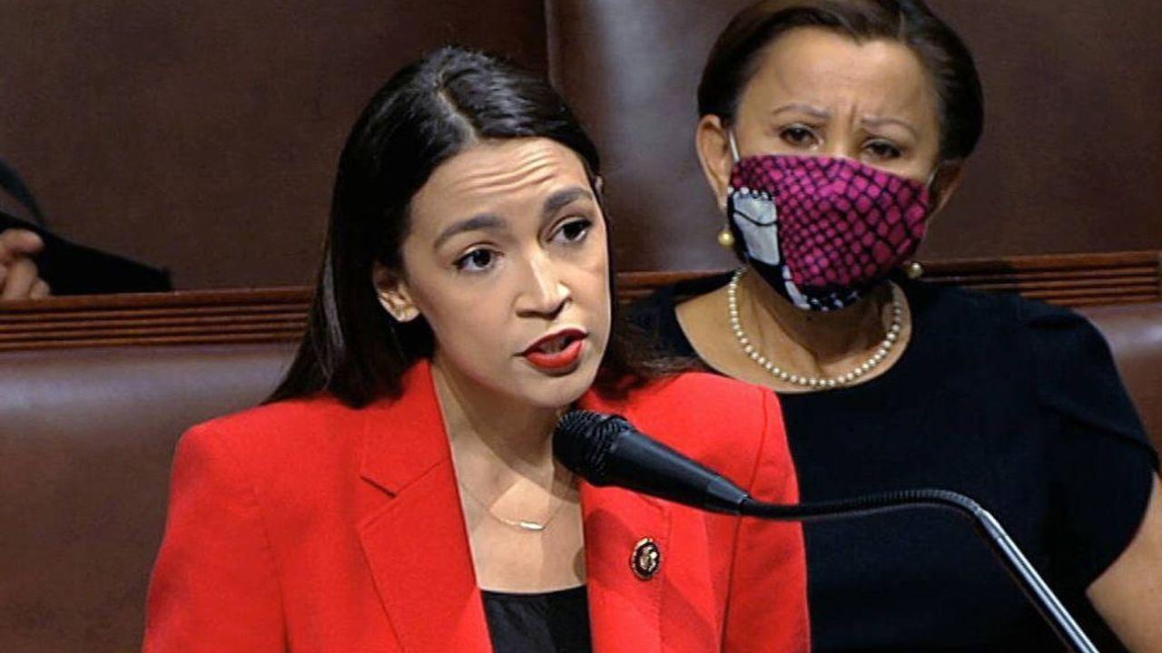 Alexandria Ocasio-Cortez, 23 juillet 2020, au Capitol.