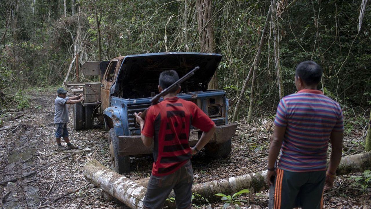Le combat contre l'exploitation forestière a fait 24 victimes, une augmentation de 85% par rapport à 2018 (photo: des chefs indigènes Arara, dans l'Etat du Para, au Brésil).