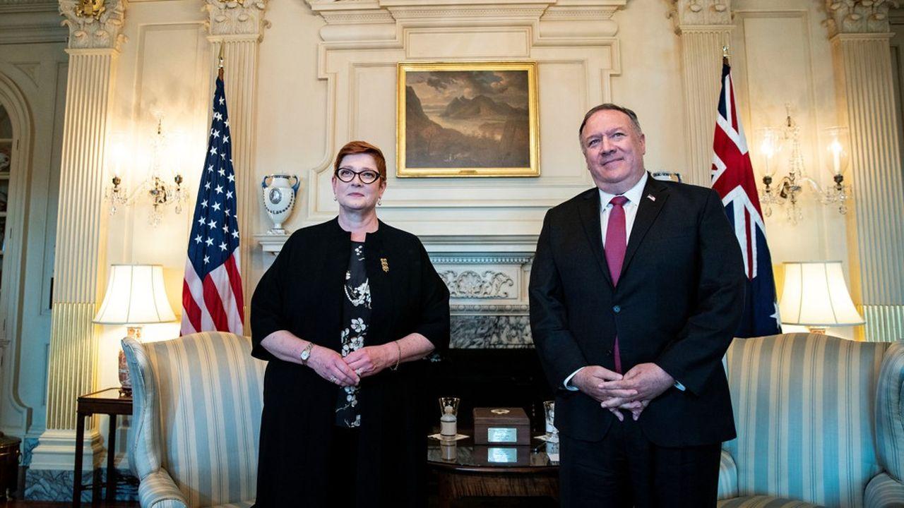 Le secrétaire d'Etat Mike Pompeo a rencontré la ministre des Affaires étrangères australienne Marise Payne au département d'Etat à Washington, le 27juillet.
