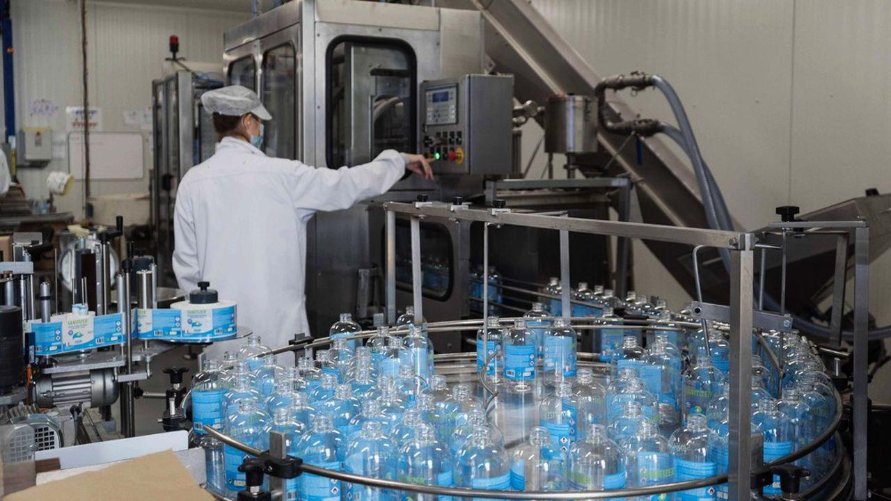 Pendant le confinement, MP Hygiene est devenu l'un des plus gros producteurs de gel hydroalcoolique en mettant sur le marché quotidiennement 80.000 litres.