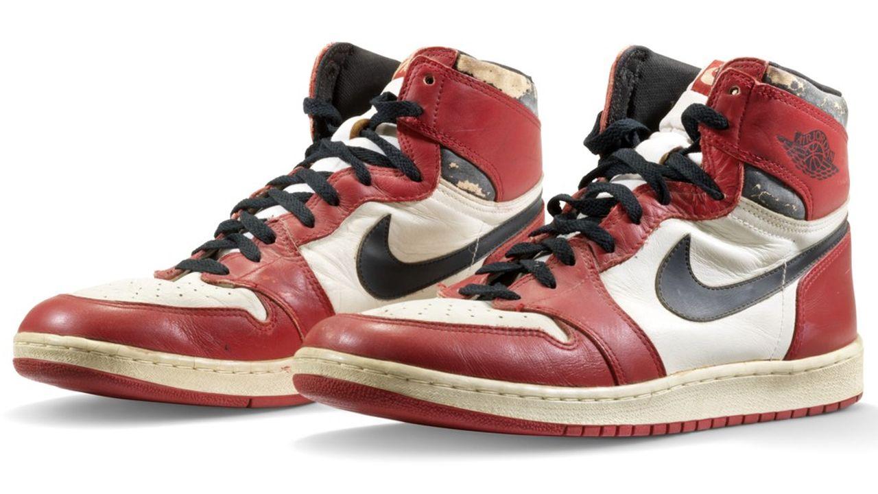 Cette paire d'Air Jordan 1 de 1985 est estimée 650.000 à 850.000dollars.