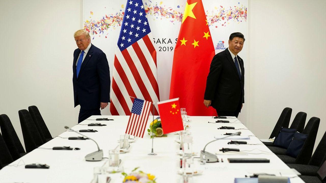 Donald Trump et Xi Jinping se sont rencontrés lors du G20 à Osaka, au Japon, le 29juin 2019.