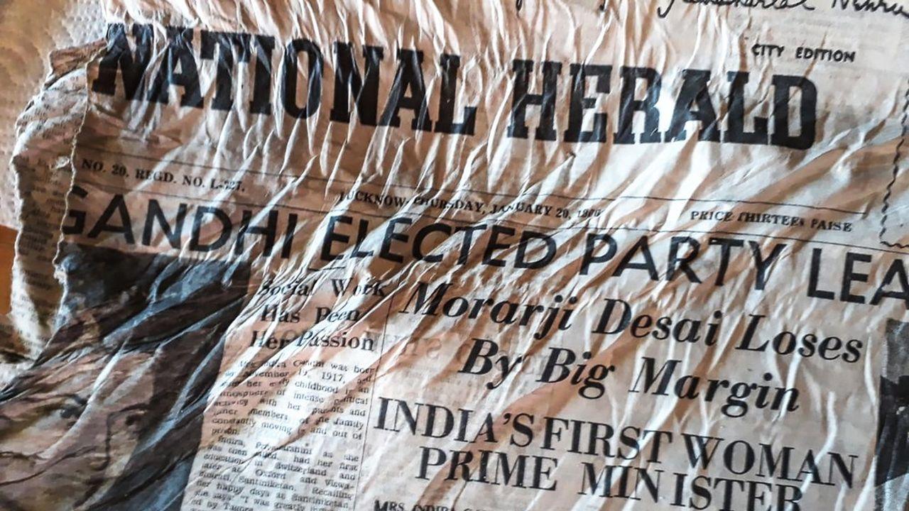 Des exemplaires du «National Herald» ont été découverts.